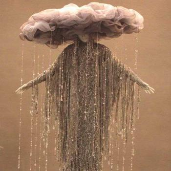 A rain cloud costume. You can make it by hand in any size you want. You could...I couldn't.