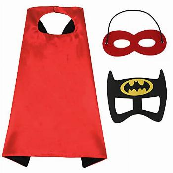 COUNER Kids Superhero Cape and Mask Superman Cape for