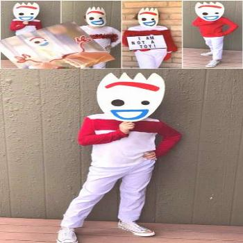 DIY Forky Costume  Who is ready to dress up as the zany new character from Toy Story 4? Check out t