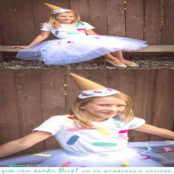 DIY Ice Cream Cone Costume! Homemade Halloween costumes are always a great idea, and they're a grea