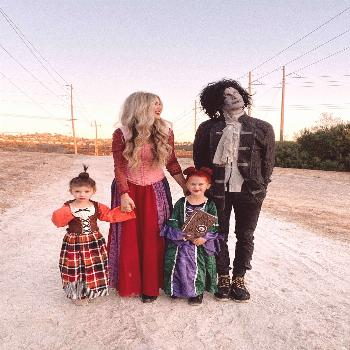 Family Halloween Costume Our family halloween costume for four with kids. This DIY was so fun to pu