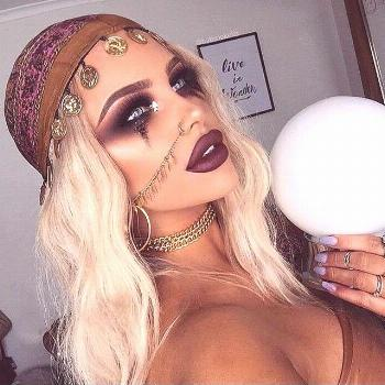 Fortune teller gypsy Halloween costume makeup --- Visit our shop halloween --- makeup scary makeup