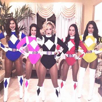 Group Halloween Costume Ideas for your Girl Squad: Power Rangers. Visit Daily Dress Me at  for more