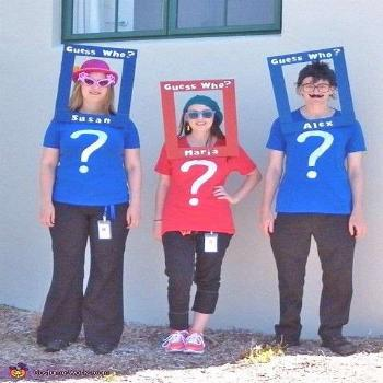 Guess who? Love this simple costume idea for a group {Featured on 's Couple's and Family Halloween