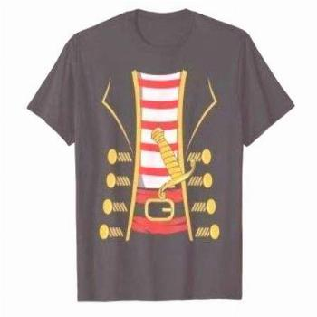 Halloween Pirate Costume Easy DIY Funny Gifts Adults Kids T-Shirt: C... Halloween Pirate Costume Ea