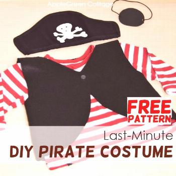 Last-Minute Diy Pirate Costume - Easy Homemade Pirate Costume For Kids' - AppleGreen Cottage Here's