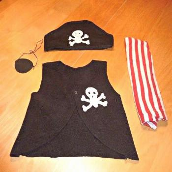 Last-Minute Diy Pirate Costume - Easy Homemade Pirate Costume For Kids' - AppleGreen Cottage - Last