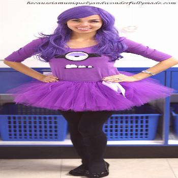 Purple Minion from Despicable Me movie for Halloween 2013.