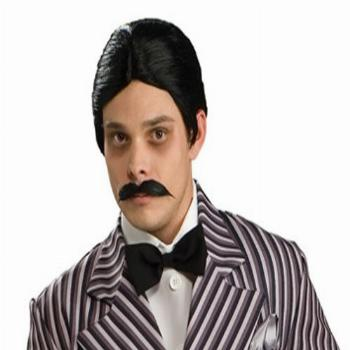 Rubie's Men's The Addams Family Gomez Wig and Mustache Kit,