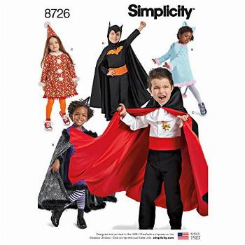 Simplicity 8726 DIY Halloween Costumes for Kids Sewing