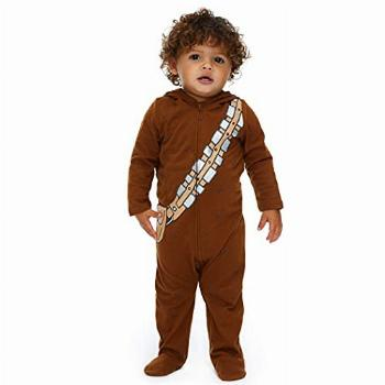 STAR WARS Chewbacca Baby Boys Costume Zip-Up Footies with