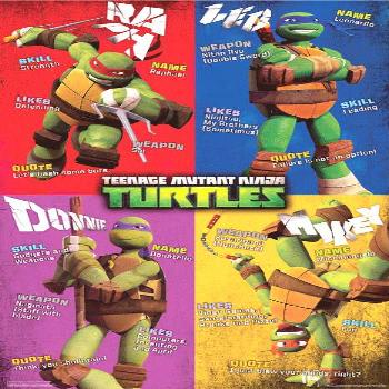 Teenage Mutant Ninja Turtles - Quad Characters Poster