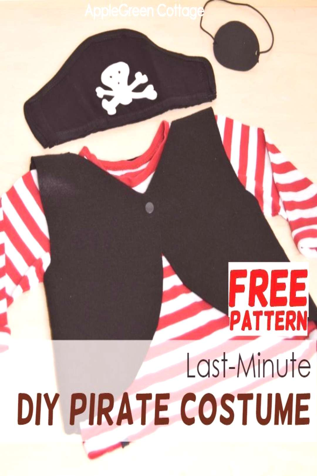 Last-Minute Diy Pirate Costume - Easy Homemade Pirate Costume For Kids - AppleGreen Cottage Heres
