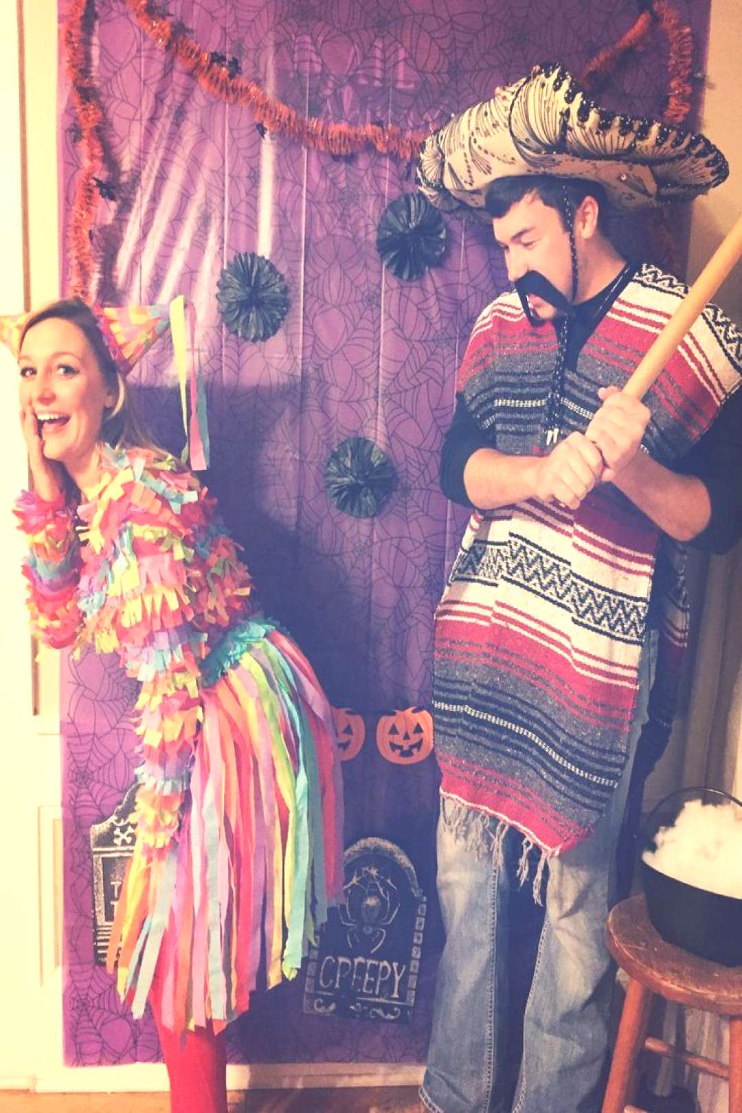 Piñata and Mexican couples cute funny Halloween costume Piñata and Mexican couples cute funny Hal